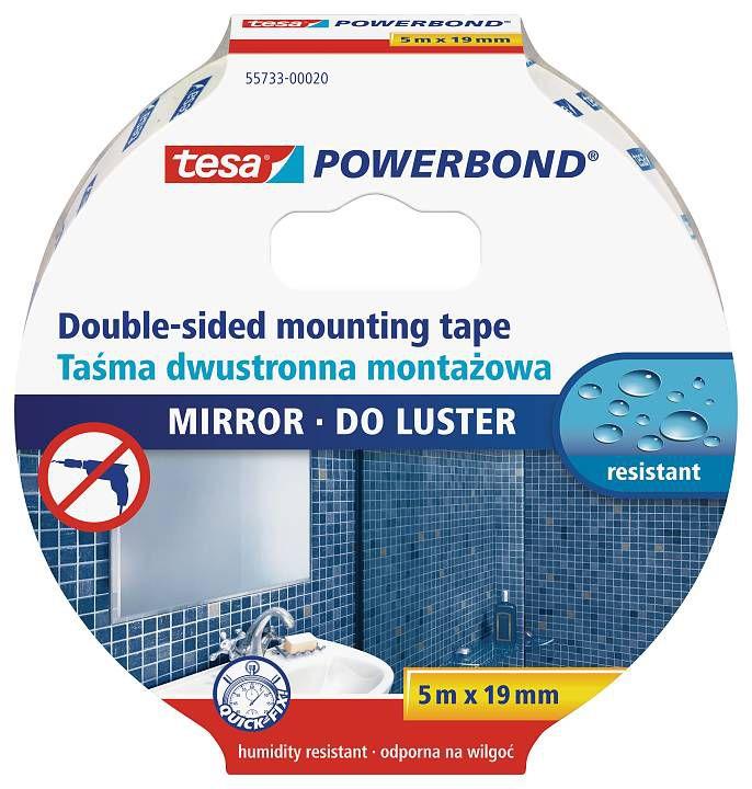 Tesa Powerbond Ayna Çift Taraflı Köpük Bandı 5 m x 19 mm 55733